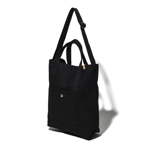 CANVAS 2WAY TOTE BAG - BLACK