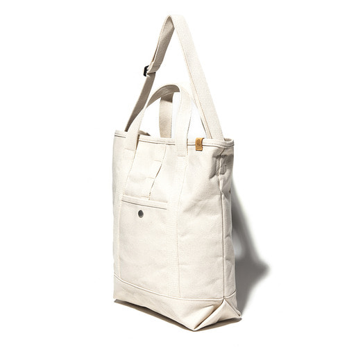 CANVAS 2WAY TOTE BAG - ECRU
