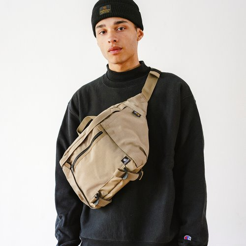WASHED CORDURA 12L WAIST BAG - BEIGE