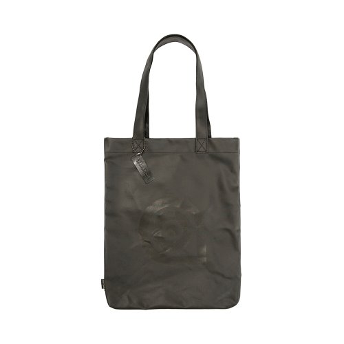 COATED CANVAS ECO BAG - BLACK