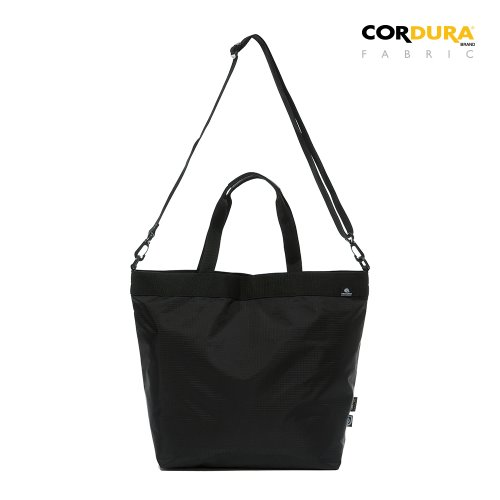 RIPSTOP CORDURA 2WAY TOTE&CROSS BAG - BLACK