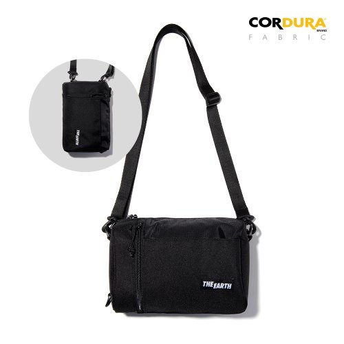 CORDURA 2WAY MINI CROSS BAG - BLACK