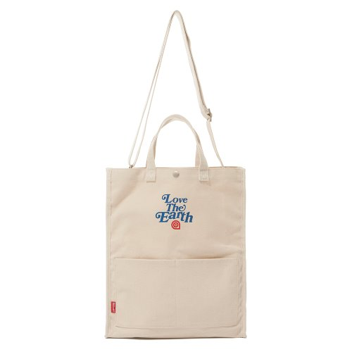 CANVAS LTE TOTE CROSS BAG - ECRU
