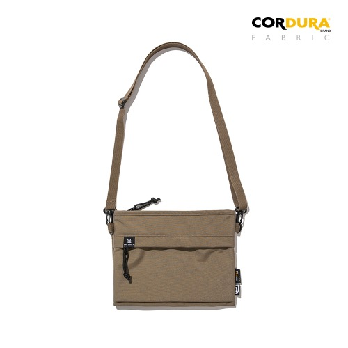 WASHED CORDURA SACOCHE BAG - BEIGE