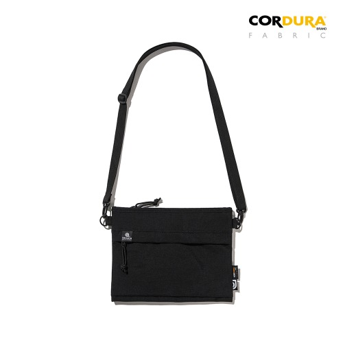 WASHED CORDURA SACOCHE BAG - BLACK