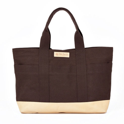 CANVAS TOTE BAG BROWN