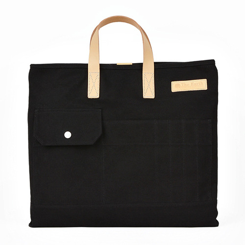 CANVAS TOTE&CROSS BAG BLACK