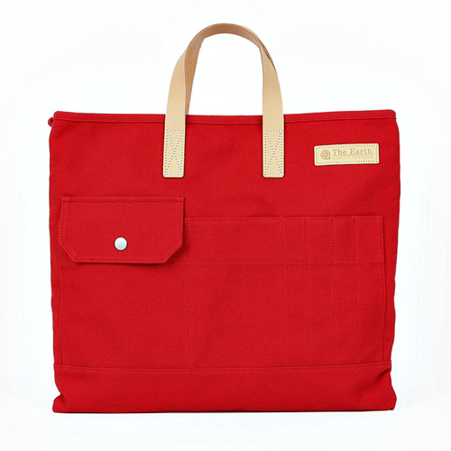 CANVAS TOTE&CROSS BAG RED