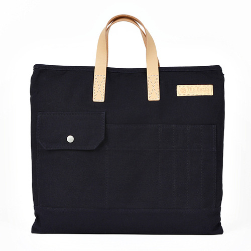 CANVAS TOTE&CROSS BAG NAVY