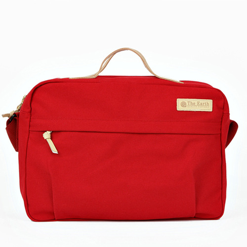 CANVAS CROSS BAG RED