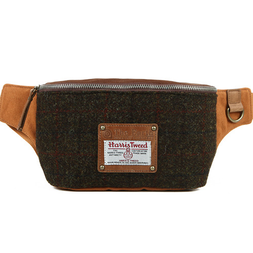 HARRIS TWEED WAIST BAG-BROWN