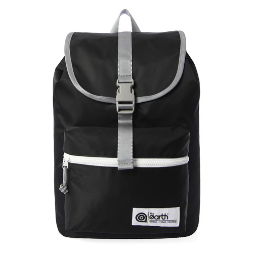 NYLON 1-POCKET BACKPACK - BLACK
