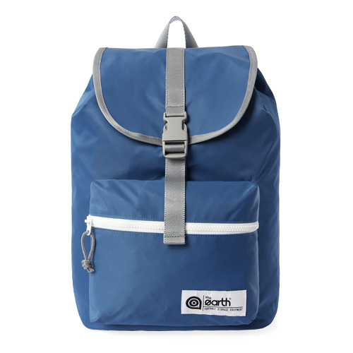 NYLON 1-POCKET BACKPACK - BLUE