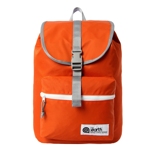 NYLON 1-POCKET BACKPACK - ORANGE