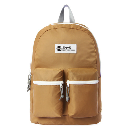 NYLON 2-POCKET BACKPACK - BEIGE