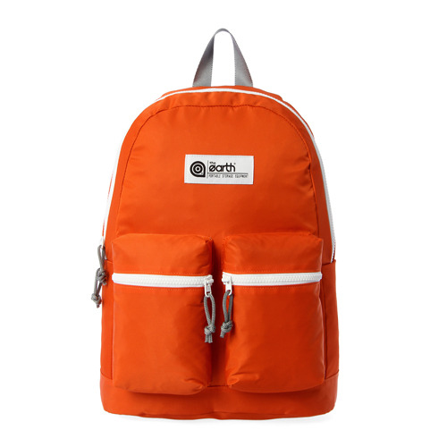 NYLON 2-POCKET BACKPACK - ORANGE
