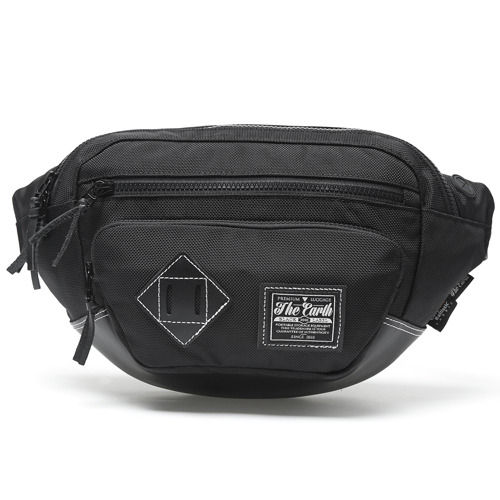 BLACK LABEL WAIST BAG - BLACK
