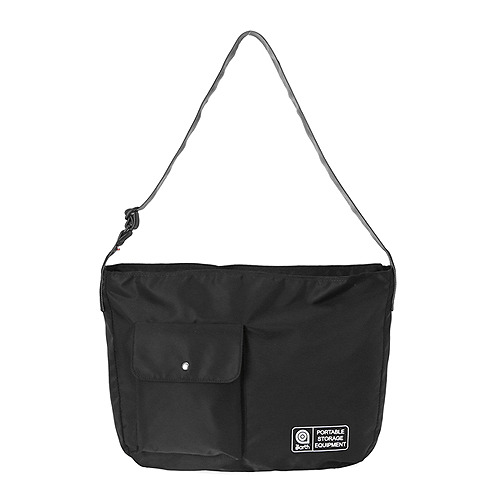 NYLON CROSS BAG-BLACK