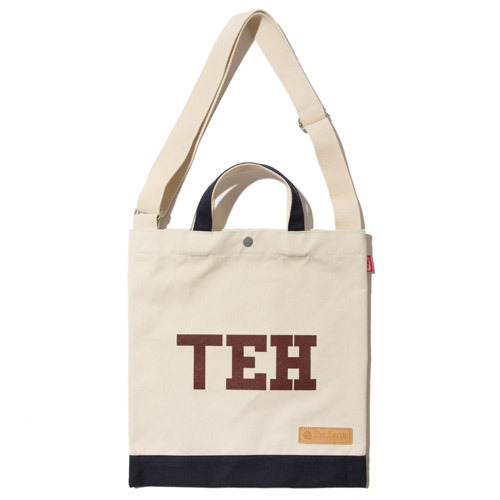 TEH CANVAS TOTE&CROSS BAG - NAVY