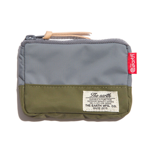 CB N CARD WALLET - GREY/OLIVE