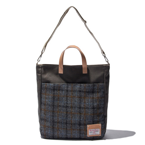 HARRIS TWEED TOTE&CROSS BAG - GREY2