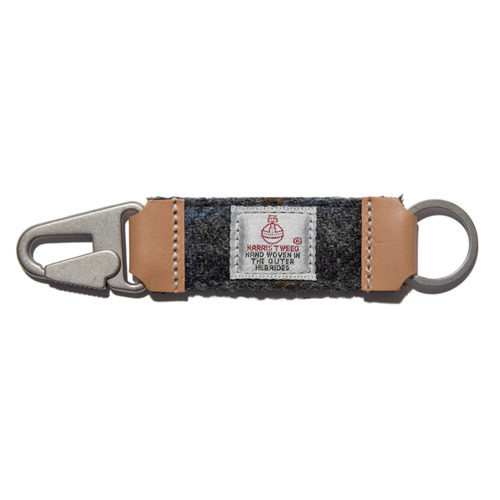 HARRIS TWEED KEY HOLDER - GREY2