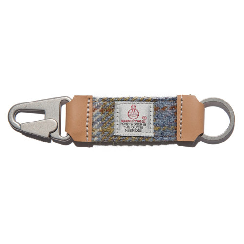 HARRIS TWEED KEY HOLDER - YELLOW